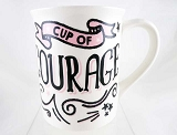 Cup Of Courage - You Got This! - 16 oz Stoneware Mug - Our Name Is Mud